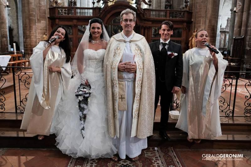 crmonie religieuse la basilique de saint maximin batrice et jimmy - Chorale Gospel Pour Mariage